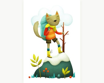 Climb Cat - Limited edtion print