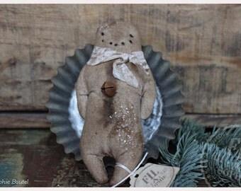 Nostalgic Christmas Ornament Primitive Folk Art Gingerbread man