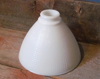 """Vintage 1950's 8"""" White Milk Glass Torchiere Diffuser Lamp Shade"""