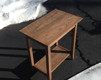 Handmade Walnut end table Made to order