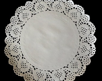 """200 Ct. 7.5"""" inch White Paper Lace Doilies Wedding Scrapbooking Cardmaking"""
