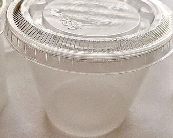 25 Ct. 5.5 oz Plastic Souffle Jello Shot Portion Cups with Lids