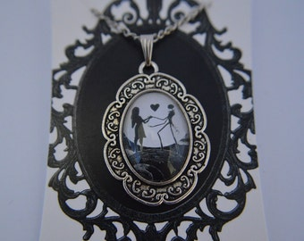 Nightmare Before Christmas - Jack and Sally - necklace