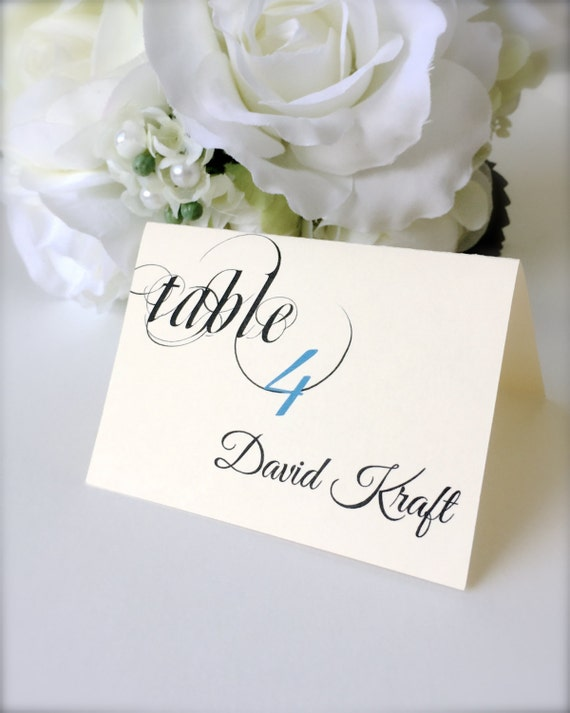 Wedding place cards personalized seating cards wedding for Personalized wedding place cards