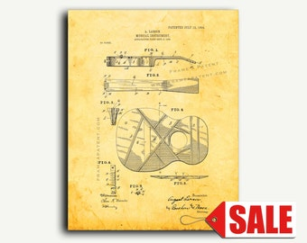 Patent Print - Musical Instrument Patent Wall Art Poster