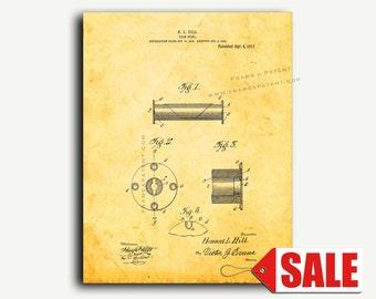Patent Art - Camera Film Spool Patent Wall Art Print