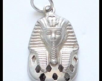 S A L E!!! PHARAOH STERLING PENDANT King Tut Egyptian (2.4g)