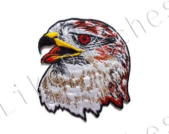 Eagle Head New Sew / Iron On Patch Embroidered Applique Size 7.7cm.x8.5cm.