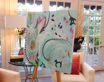Large Original Abstract Paintings by Pamela Qarbaghi