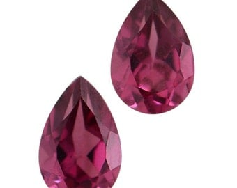 Rhodolite Garnet Pear Cut Loose Gemstones Set of 2 1A Quality 7x5mm TGW 1.50 cts.
