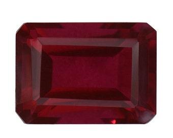 Blazing Red Triplet Quartz Loose Gemstone Octagon Cut 1A Quality 14x10mm TGW 7.10 cts.