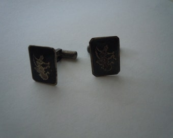 1930s Seterling Silver Siam Cuff Links