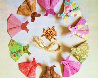 Vintage Origami Dress Bunting