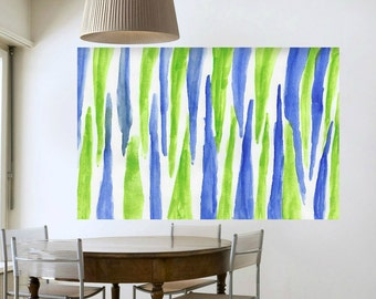 large abstract canvas painting minumalist green blue abstract large painting huge art living room large abstract modern wall art Home decor