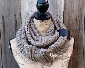 Womens Knit Scarf, Knit Infinity Scarf, Infinity Scarfs, Winter Knit Infinity Scarves, Chunky Knit Scarf, Knitted Infinity Scarves, Scarves