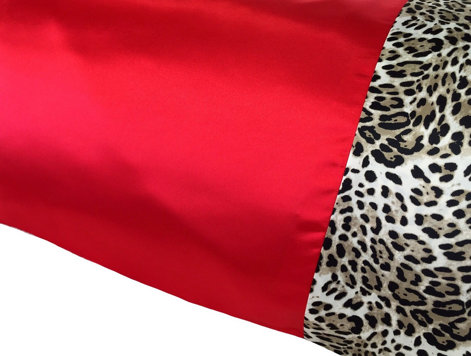 Leopard and red bedding - Red Leopard Satin Pillowcase Red Satin Pillow Case Snow Leopard Bedding Leopard Red Satin Red Bedding Leopard Pillow Case Satin Swank