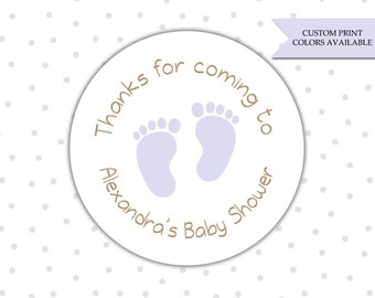 Baby shower stickers - Personalized baby shower stickers - Baby shower thank you stickers - Baby shower favor stickers (RW032)