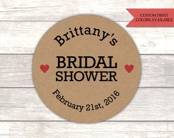 Bridal shower stickers - Rustic bridal shower - Bridal shower labels - Rustic stickers - Kraft stickers (RK006)