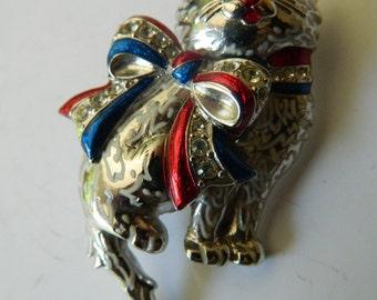 signed-Christopher Radko Enameled Kitty pin