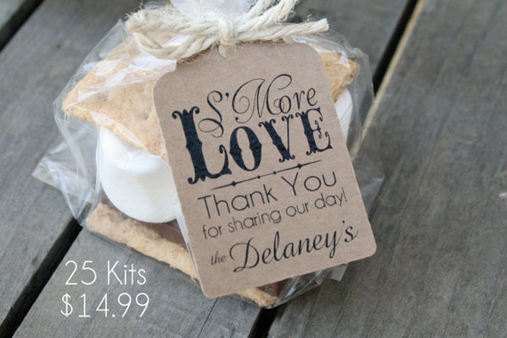 Kit - SMore Wedding Favor Kits-3 TAG COLORS 25-100 DIY Bags/Favor ...