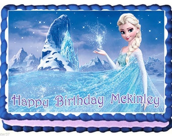 Elsa Frozen Birthday Cake Topper with FREE Personalization