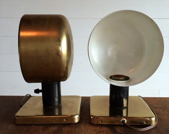 Vintage Brass Mounted Lamps