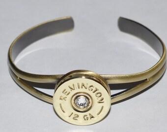 Remington 12 Gauge Shotgun Shell Bullet Bracelet High Bronze Finish