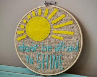 Don't be afraid to SHINE needlepoint art.