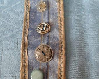 Blue/Stone Fabric Cuff