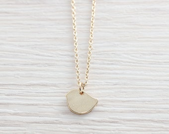 Gold Plated, Simple Chubby Bird Silhouette Charm, Necklace