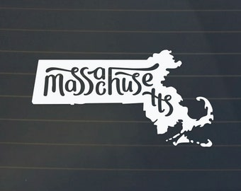 Massachusetts Car Decal - Massachusetts Sticker - Massachusetts Car Decal