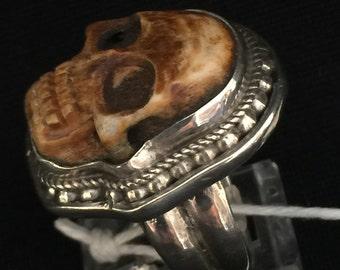 The Collection of Treasures ~ Skull Ring... Artist: John Binzley