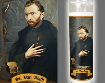 Saint Vincent Van Gogh Prayer Candle - Gift for Artist - Van Gogh Worship - Classic Art Lover - Impressionist Candle