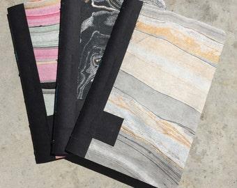 """Handbound Sketchbook - black paper 4""""x6"""""""
