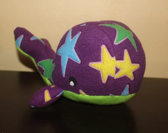Glow in the dark stars plush whale/toy