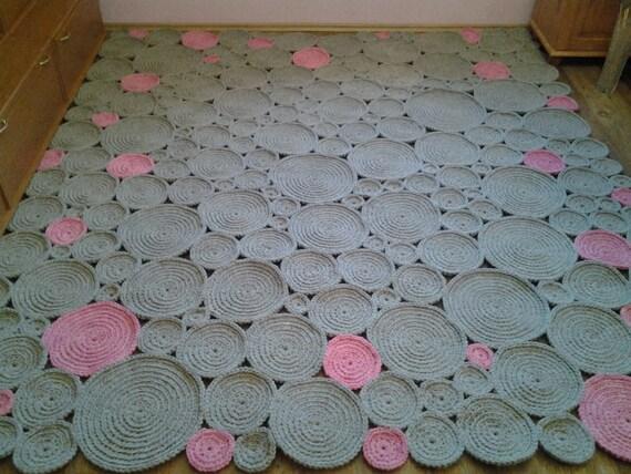 Crochet Square Rugrechteckig Teppich 250 cm250