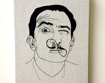 Embroided SALVADOR DALI portrait