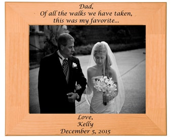 Father of the Bride Picture Frame Gift, Wedding, Personalized, Custom, Bridal Party, Anniversary, Present, Birthday