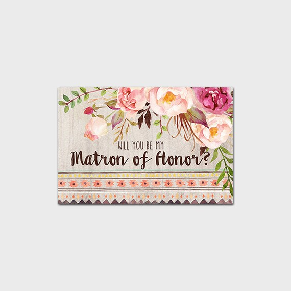 Rustic Will You Be My Matron Of Honor By MossAndTwigPrints