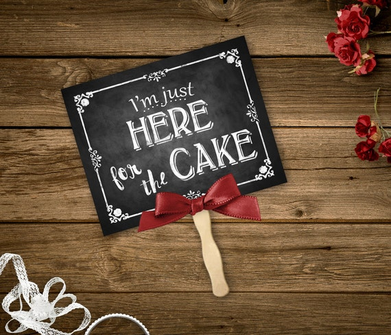 I'm Just Here For The Cake Printable Chalkboard Ring