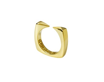 2 Fangs Ring - 14K Gold Plated