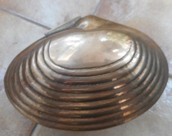 Vintage Brass Shell Box