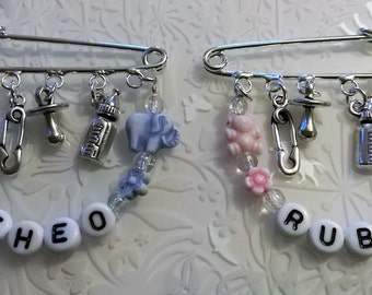 Baby kilt pin brooch~pram charm~changing bag charm~baby show gift~personalised
