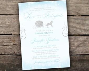 Printed or Digital Cinderella Bridal Shower Invitation Princess Bridal Shower Invitation Fairytale Bridal Shower Happily Ever After Invite
