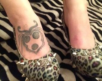 Spiked Leopard Print Heels
