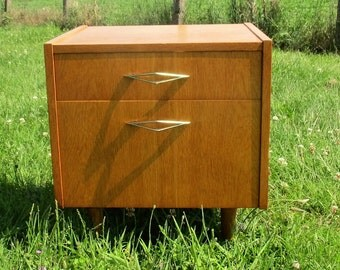 Vintage Nightstand Cabinet Mid Century Modern End table Modernist