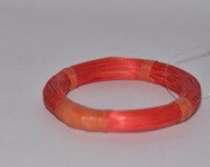 Orange Straw Vintage Estate Bracelet