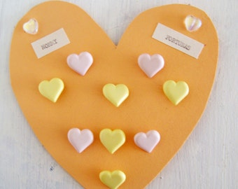 Candy Coloured Heart Buttons