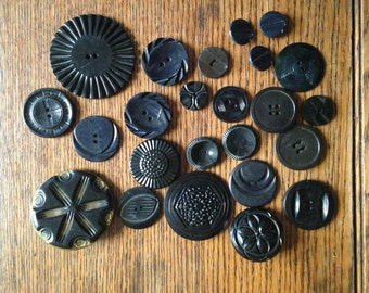 Button Collection Black