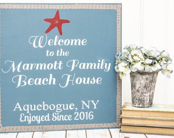 Beach House Sign - Personalized Beach Sign - Beach Sign - Personalized Beach Signs - Beach Decor - Personalized Beach - Beach Signs